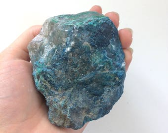 Chrysocolla large raw rough natural stone 4 inch