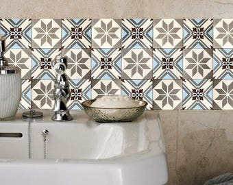 Superb Tile Decals Stickers   Carrelage Stickers For Kitchen Bathroom Floor   PACK  OF 20   Mexico
