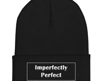 Imperfectly Perfect | Cuffed Beanie | 3D Puff Letters