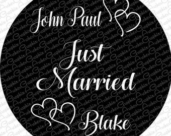 Just Married  Tire Cover - CUSTOM MADE  for You! Pick your colors!