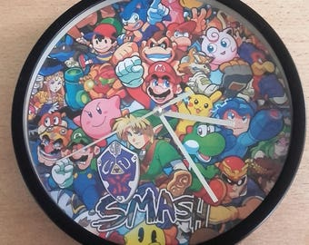 clock wall pattern Nintendo video game hero