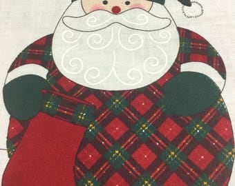 Roly-Poly Plaid Santa Craft Panel - TOO CUTE!!