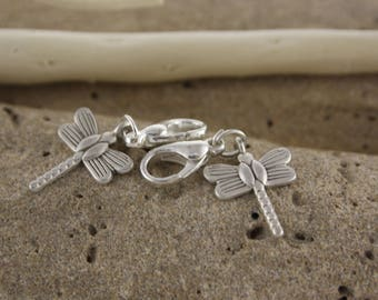 In antique silver Dragonfly charm