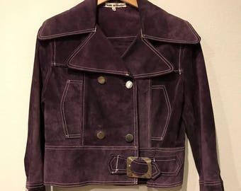 RARE 1960's Suede Mod Rocker Jacket. Iconic 1960s MOD       WIldRosesVintage