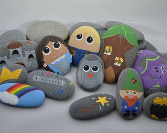 Tell Me a Fairy Tale 12 piece Story Stone Set