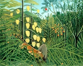 """Placemat customs Rousseau """"in the rain forest"""""""