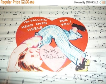 Clearance Sale Head Over Heels For You Vintage 1940s Carrington Valentine