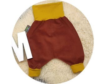 Harem trousers, harem pants, corduroy pants, pants, baby pants, baby, Mitwachsen pants,