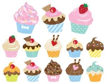 Cake Clipart Cupcake Clipart Cake Clip Art Cake Clipart Dessert Clipart Sweet Clipart Bakery Clipart Digital Instant Download