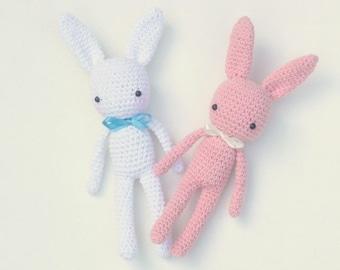 Amigurumi - Crochet - 24 cm - Bunny baby pink