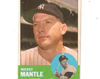 1963 Topps Mickey Mantle VG