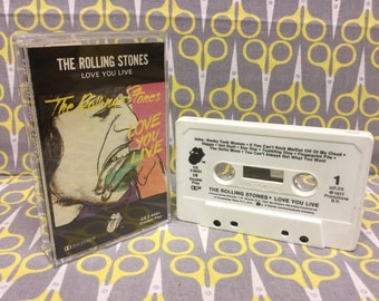 Love You Live by The Rolling Stones Cassette Tape rock