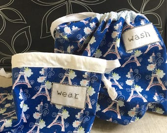 Travel Lingerie Bag - Set of 2, Wash and Wear Travel Bags