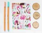 "Map postcard ""Flamingo"", 5, 10 x 14, 7cm"