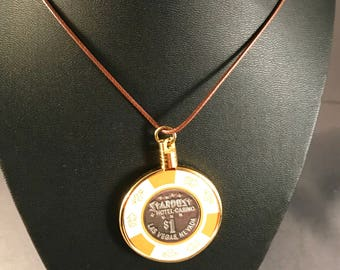 Up-cycled Casino poker chip necklace - Stardust Casino.