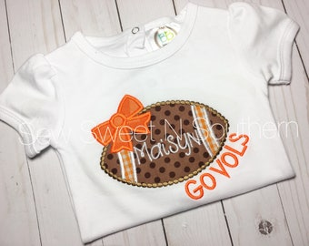 Tennessee appliqued shirt, embroidered Big orange shirt, Football monogrammed shirt, TN vols, UT football, girly gameday shirt.