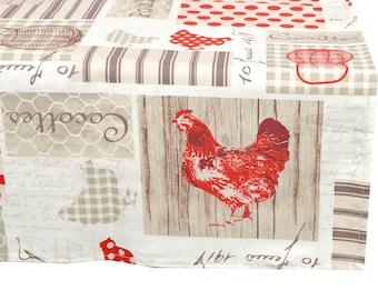 "Square tablecloth fabric coating ""Casseroles"" 150X150cm"