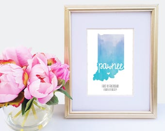 Parks and Recreation Art, Pawnee Indiana, Parks and Recreation Print, Leslie Knope, Amy Poehler, Parks and Rec, Treat yo self, Ron Swanson