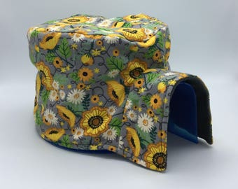 Igloo Cover, Sunflowrs, for Small Animals, Hedgehogs, Guinea Pigs, Chinchillas