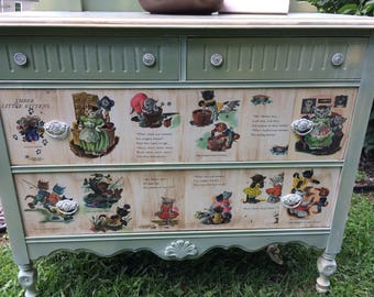 Nursery Themed Dresser Three Little Kittens (do not ship)