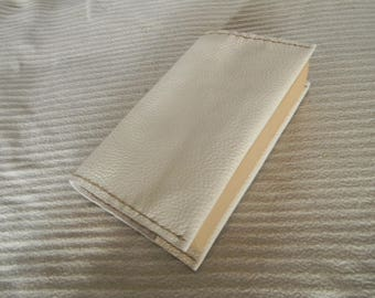 White color leather book cover