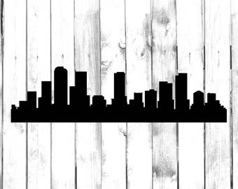 Denver Skyline - City Skyline Silhouette - Car/Truck/Home/Computer/Laptop/Phone Decal
