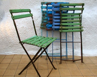 French Bistro Chair, Folding Chair, Ice Cream Colours, Garden Chair, Conservatory Furniture, Patio Seating, Cafe Chair, BIstro Chairs UK
