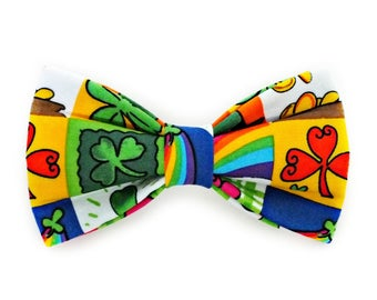 St Patricks Day Fun Dog Bow Tie, Cat Bow Tie, pet bow tie, collar bow tie, wedding bow tie