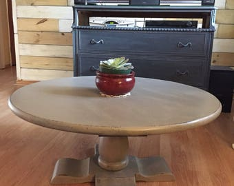 Ethan Allen painted coffee table