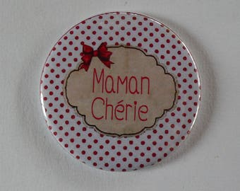 Ma Cherie Magnet / Pocket mirror / Badge pin MOM.