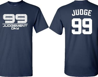 New York Yankee T-Shirts - Aaron Judge T-Shirt - Judgement Day T-Shirt