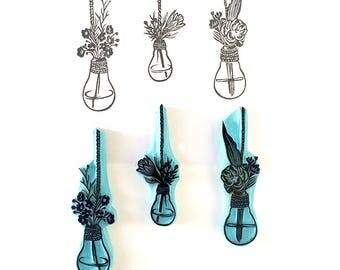 Lightbulb Vase, Rubber Stamps, Hand Carved Stamps, Stamps, Flower Vase, Stamping Art