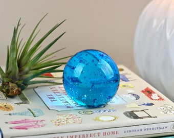 Vintage Controlled Bubble Paperweight Art Glass Paper Weight