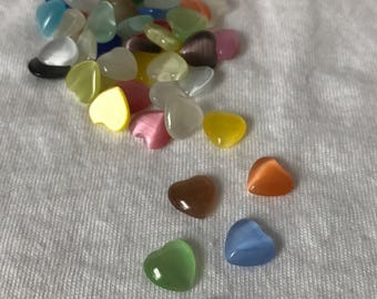Opaque Glass and Heart Magnets
