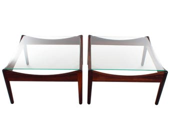 MODUS ROSEWOOD Coffee Or End Table Pair, Kristian Vedel For Soren  Willadsen, 1963.
