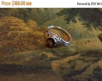 Holiday SALE 85 % OFF Amethyst Size 7 Ring Gemstone. 925 Sterling  Silver