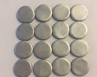 50 Silver Fondant Polka Dots Toppers
