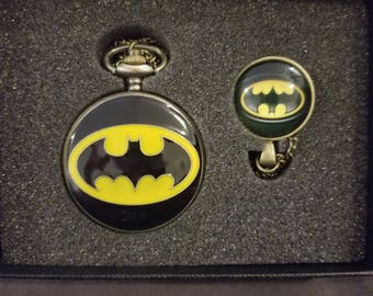 Batman Gift Box Pocket Watch and Necklace