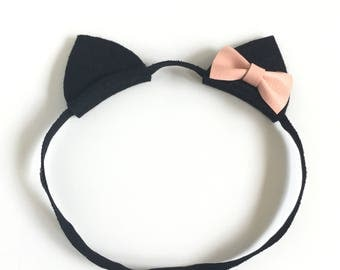 Cat Ear Headband, Cat Costume, Halloween, Baby Halloween Costume