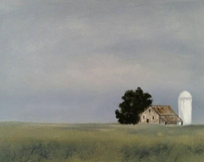 Silo - Oil On Paper - Framed