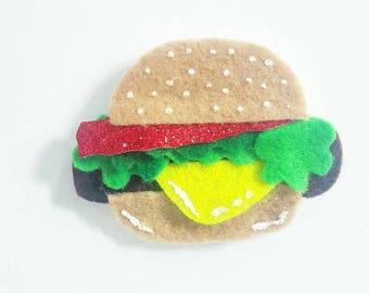 Burger Hair Clip