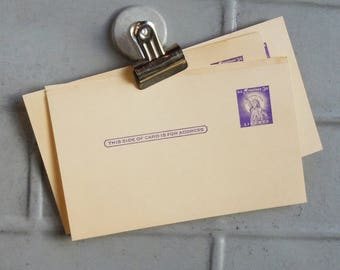 10 Unused Post Cards / 3 Cent Postage Included! / Faded Paper / Completely Blank....add postage and send a card from 1958!
