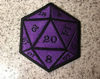 Iron-On Patch: D20