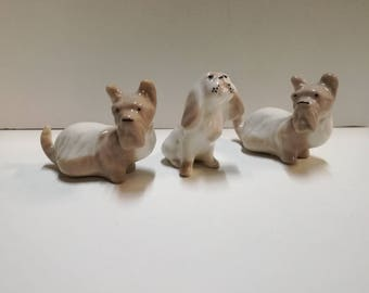 Vintage Dog ceramic, ceramic ex URSS, ceramic dogs, white dog, Friend of man, lovelymore