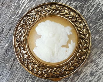 Early ESTEE LAUDER Round CAMEO Solid Youth Dew Perfume