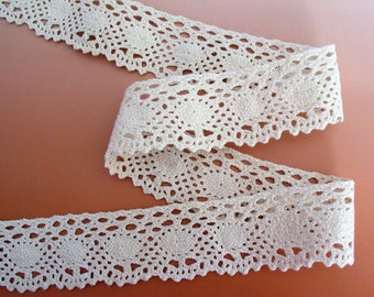 Lace cotton white 3.90 cm same as front/back