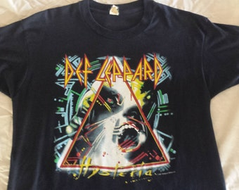 DEF LEPPARD tour shirt 1988 HYSTERIA  Canadian dates