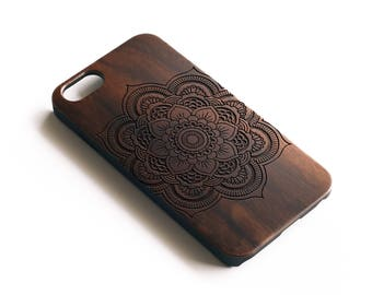 iPhone X Case, Mandala iPhone Case,iPhone 7 Case Wood, iPhone 7 Case, iPhone 8 Plus Case,iPhone 6 Case, iPhone 6S Case, iPhone SE Case