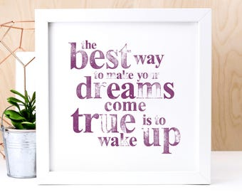 Dreams Inspirational Print (AP002)