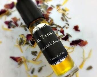 AL ZAHRA Perfume Oil - Agarwood, Frangipani, Sandalwood, Aged Amber Resins, Oud, Oudh, Attar